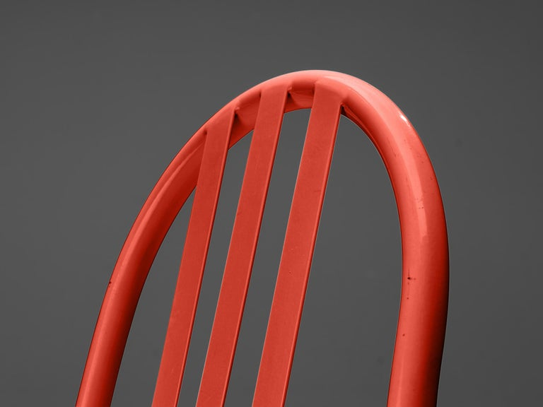 Robert Mallet-Stevens Dining Chairs Model 222 in Colourful Metal For Sale 3