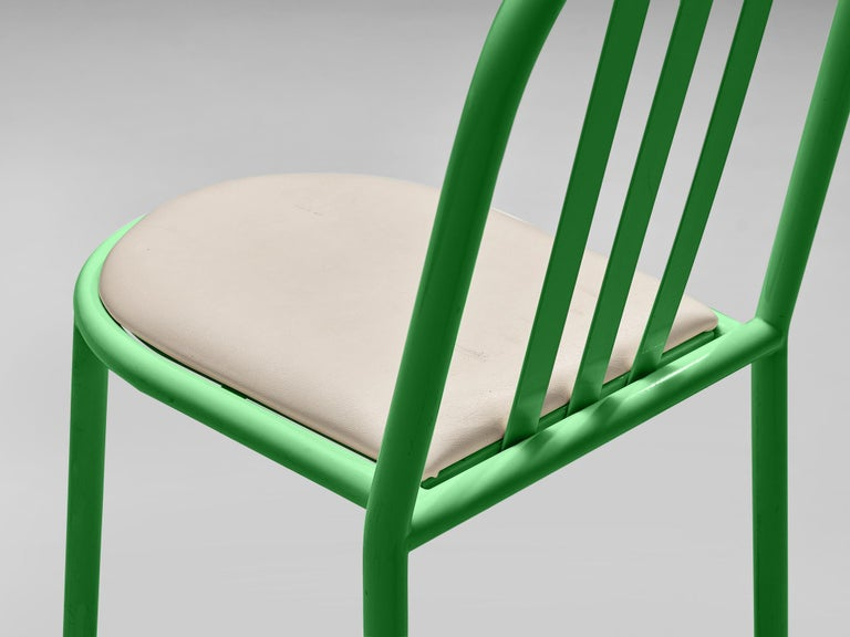 Mid-Century Modern Robert Mallet-Stevens Dining Chairs Model 222 in Colourful Metal For Sale