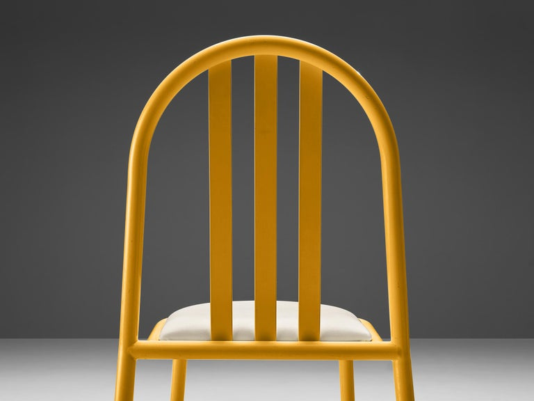 Robert Mallet-Stevens Dining Chairs Model 222 in Colourful Metal In Good Condition For Sale In Waalwijk, NL