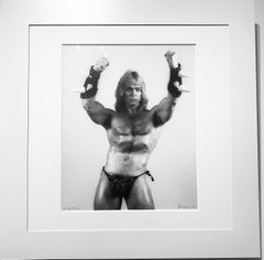 Jon Thor, Black and White Portrait Photography of Pop Culture Male Bodybuilder