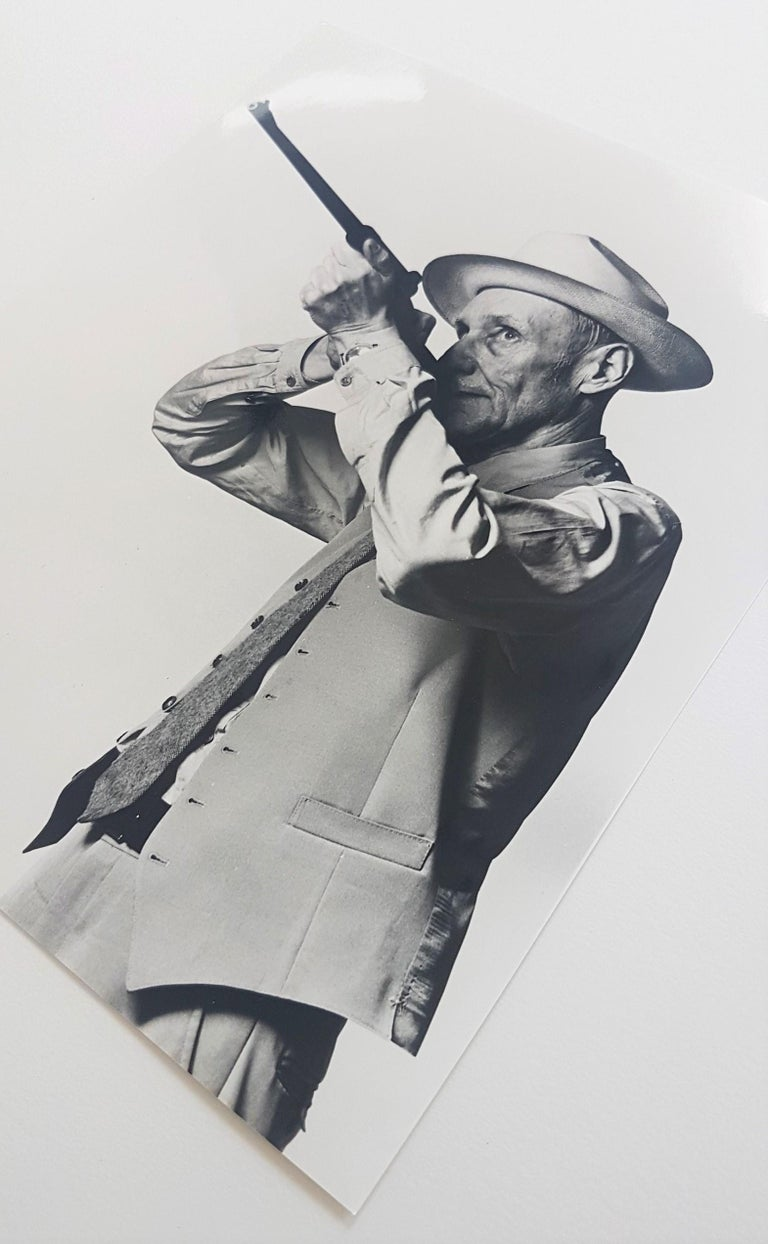 William S. Burroughs (Stamped) - American Modern Photograph by Robert Mapplethorpe