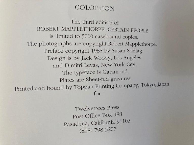 Robert Mapplethorpe Portraits Hardcover Book For Sale 8