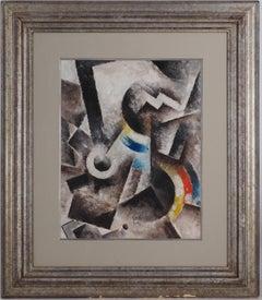 Cubist Composition - Original Oil Painting on Board, Handsigned