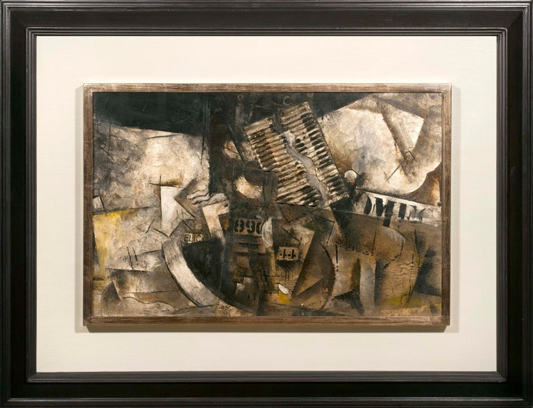 Robert Marc - Untitled (9690), cubist, post cubism, french, collage, abstract - Cubist Mixed Media Art by Robert Marc