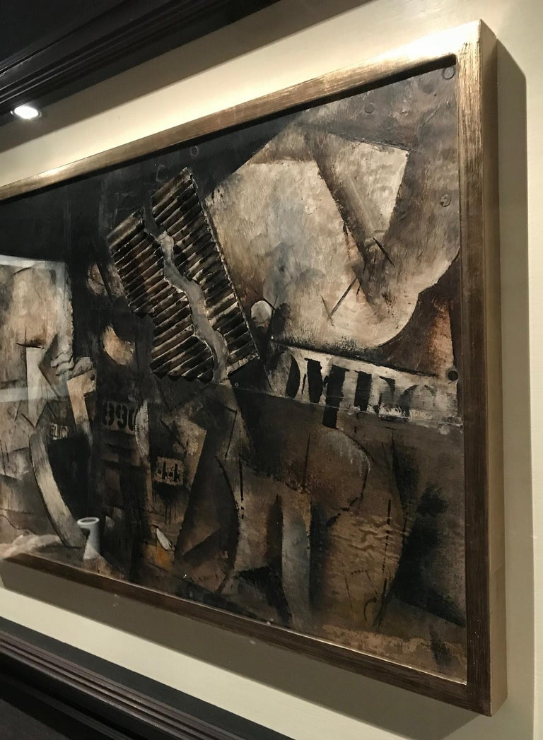 Robert Marc - Untitled (9690), cubist, post cubism, french, collage, abstract For Sale 1