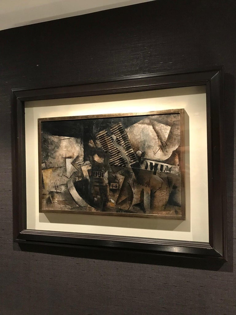 Robert Marc - Untitled (9690), cubist, post cubism, french, collage, abstract For Sale 3
