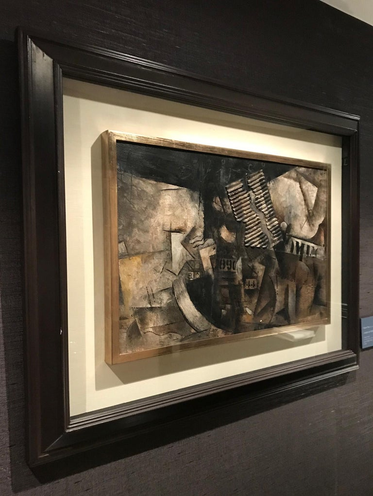 Robert Marc - Untitled (9690), cubist, post cubism, french, collage, abstract For Sale 4