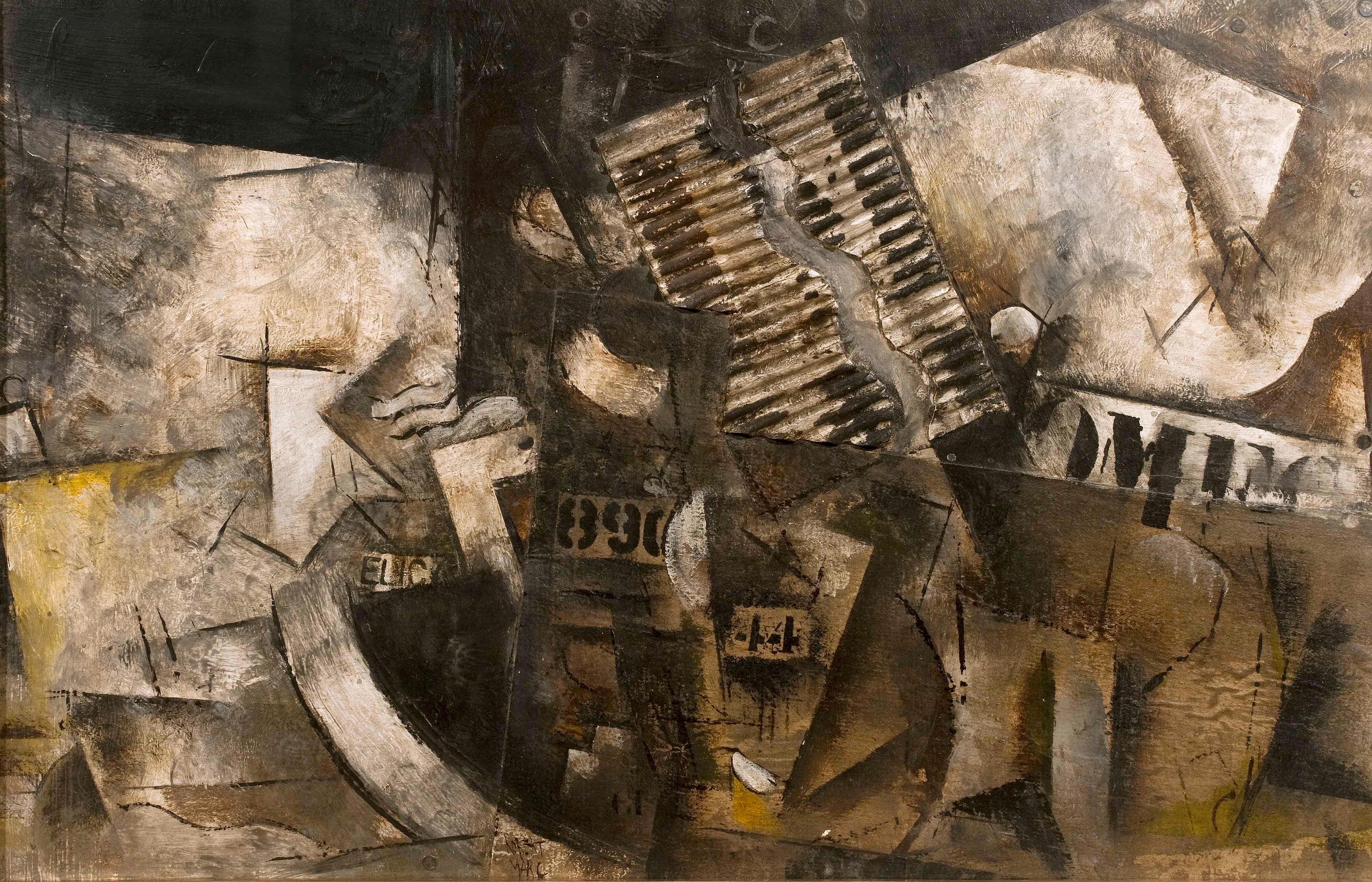 Robert Marc - Untitled (9690), cubist, post cubism, french, collage, abstract