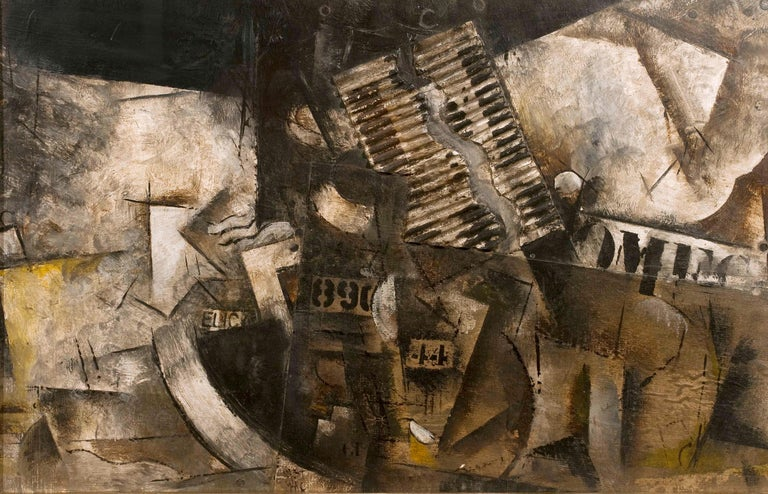 Robert Marc - Untitled (9690), cubist, post cubism, french, collage, abstract - Mixed Media Art by Robert Marc