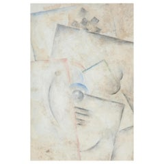 "Robert Marc ""Untitled"" Cubist, oil on board, signed, circa 1975-1980"
