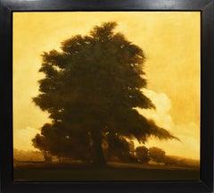 """Against the Sky"", Large Modernist Landscape Original Canadian Oil Painting"
