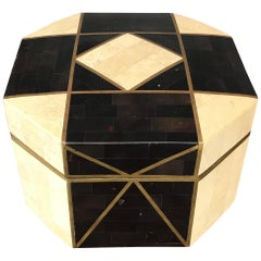 Robert Marcius for Casa Bique Tessellated Stone and Brass Box