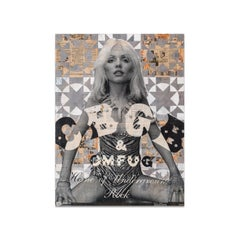 Robert Mars, Mixed Media on Panel, OUT OF STEP WITH THE WORLD (Debbie Harry)