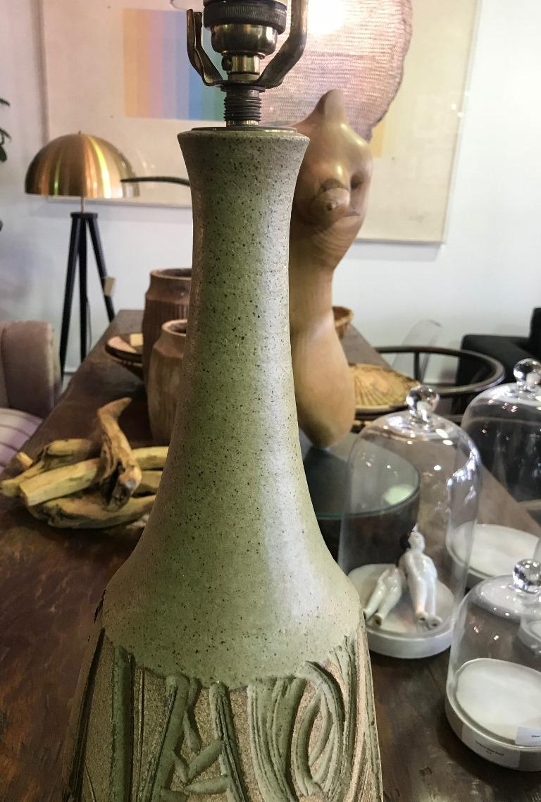 Hand-Crafted Robert Maxwell Large Earthgender Ceramic Lamp For Sale
