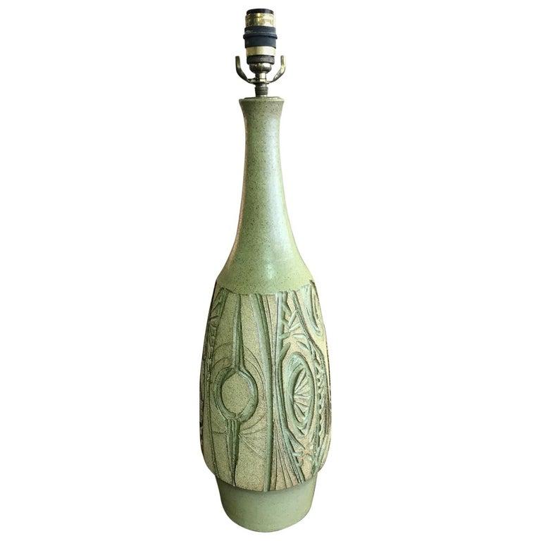 Robert Maxwell Large Earthgender Ceramic Lamp For Sale