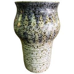 Robert Maxwell Large Midcentury California Signed Ceramic Pottery Glazed Vase
