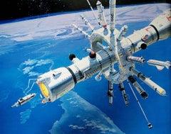 Conceptual space art sci fi art science fiction art International Space Station