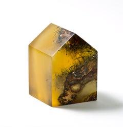 Dwelling with Barrel Cactus #2, 2019, resin and barrel cactus,  4.5 x 3.25 x 3.2