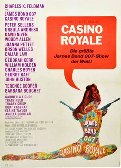 Original Vintage Film Poster James Bond Casino Royale 007 Tattoo Lady Movie Art