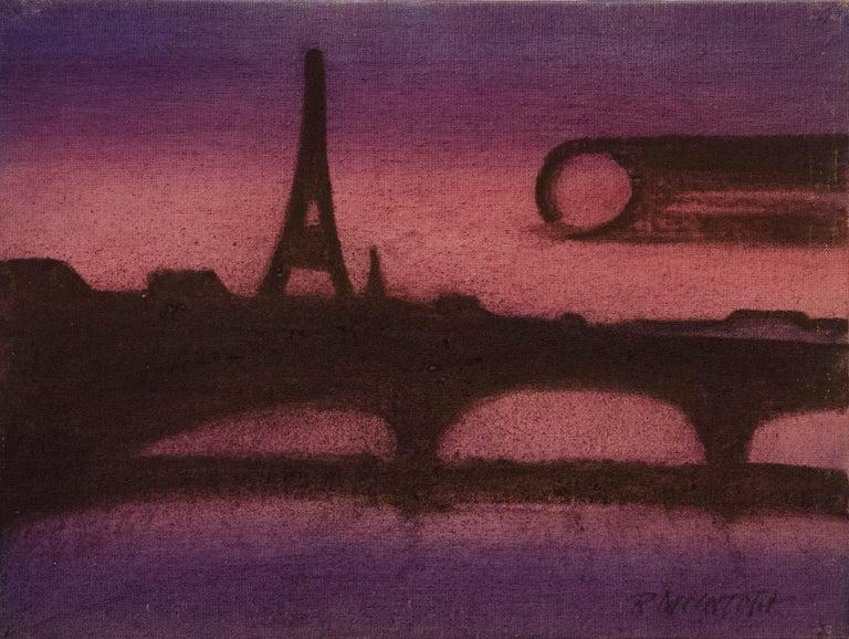 Robert McIntosh Abstract Painting - Paris in Purple