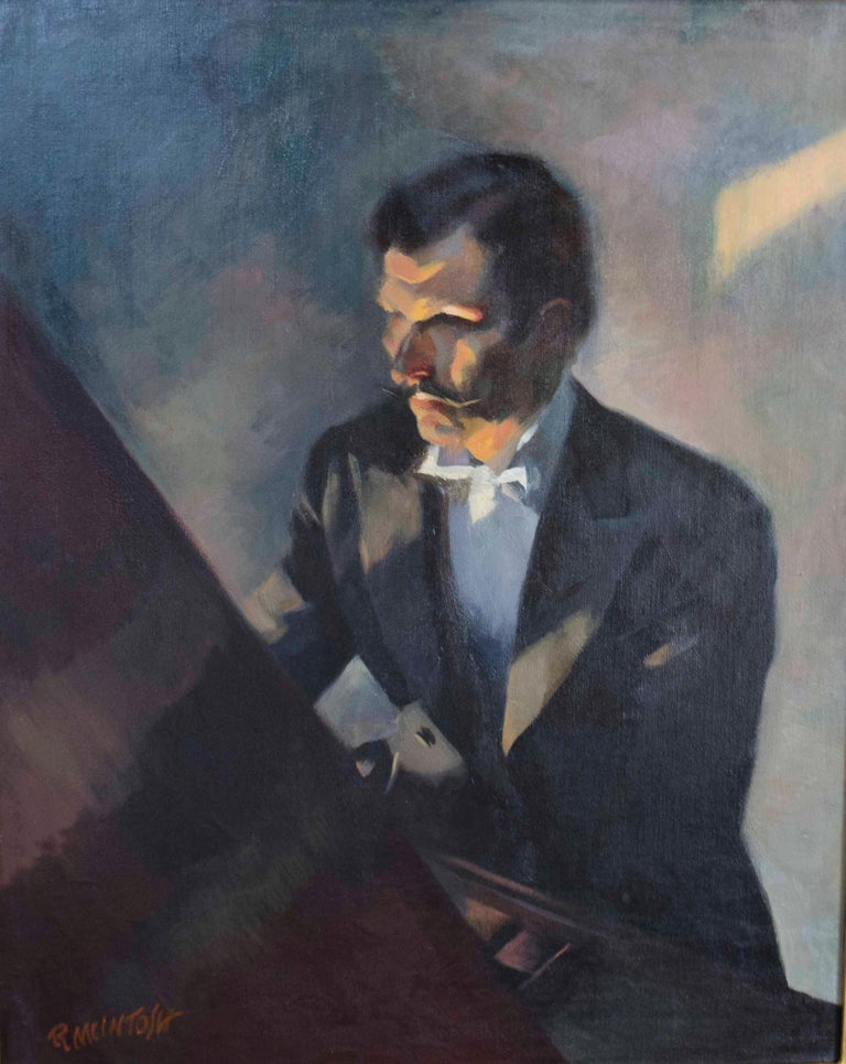Robert McIntosh Figurative Painting - The Pianist