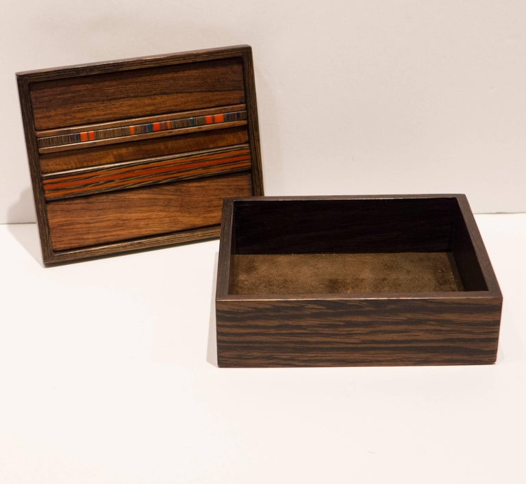 Late 20th Century Robert McKeown Box with Resin Inlay For Sale