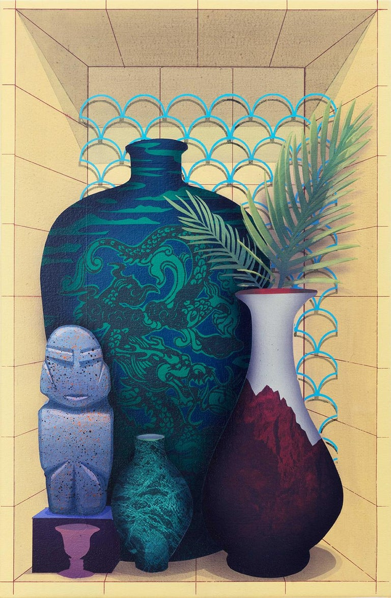 The Excluded (2 Vases)  - Painting by Robert Minervini