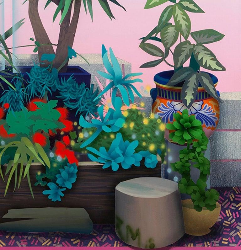 Wild Garden  - Painting by Robert Minervini