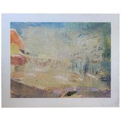"Robert Minuzzo Original Painting ""Untitled #82"" Signed 1985"