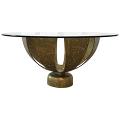 Robert & Mito Block Gold Leaf Cocktail Table