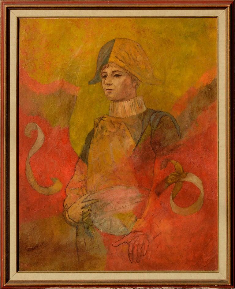 Robert Moesle Abstract Painting - Harlequin Prince