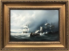 Original Oil Painting Seascape with Sailing Boats by British Maritime Artist