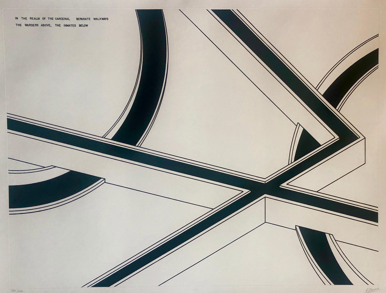 Hand Signed Large Robert Morris Minimalist Conceptual Abstract Aquatint Etching