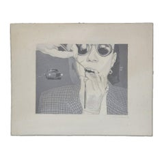 """""""Dental Work with Sunglasses"""" Surrealist Painting"""