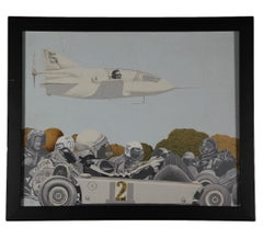 """""""Racers"""" Surrealist Painting with Race Car Drivers"""
