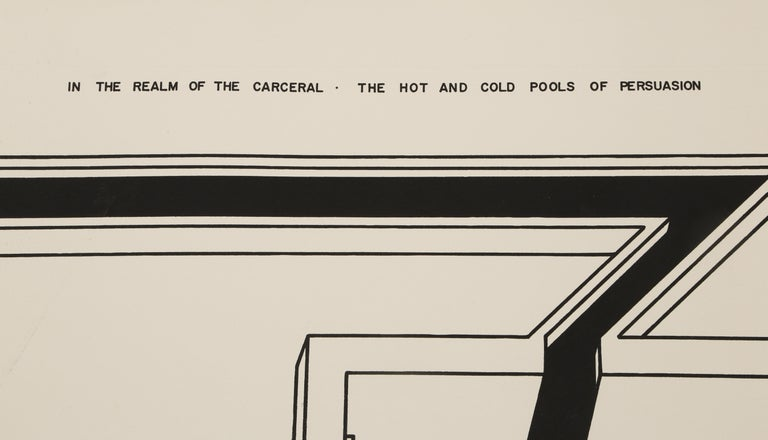 The Hot and Cold Pools of Persuasion from In the Realm of Carceral - White Abstract Print by Robert Morris