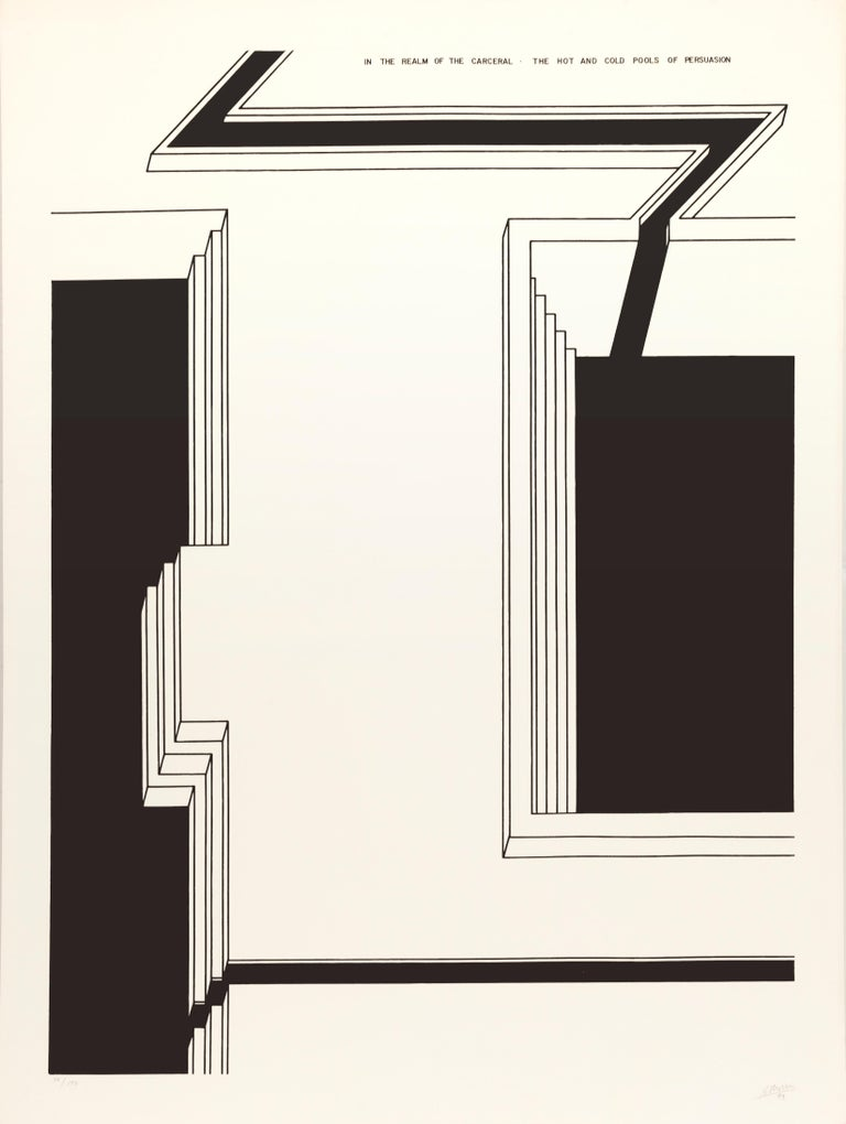 Robert Morris Abstract Print - The Hot and Cold Pools of Persuasion from In the Realm of Carceral