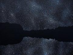 Horizon 17 September 02:16, Modern Night Sky, Stars Landscape Painting