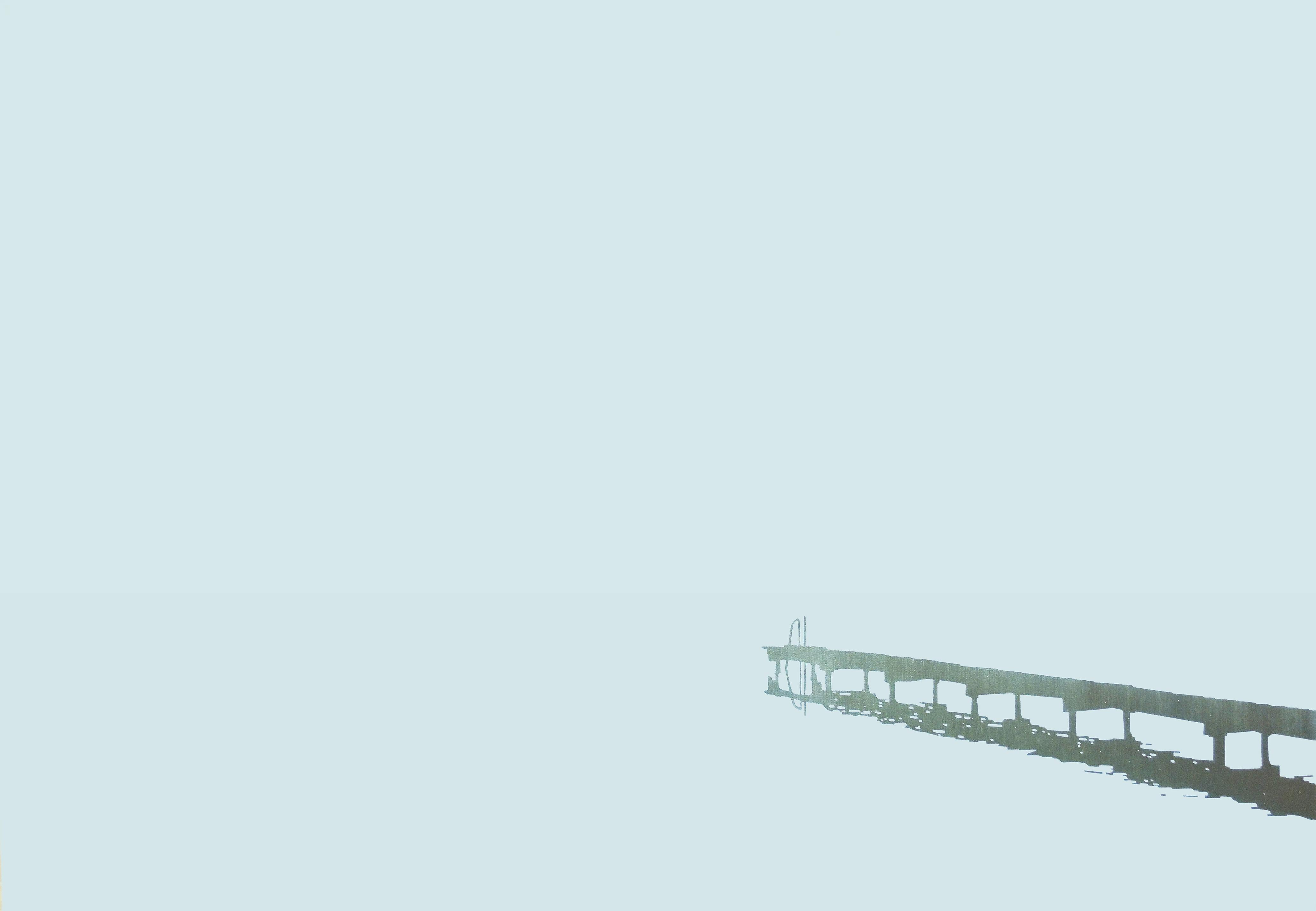 Jetty 16 February 09:43, Modern Landscape Oil Painting, Minimalistic, Abstract