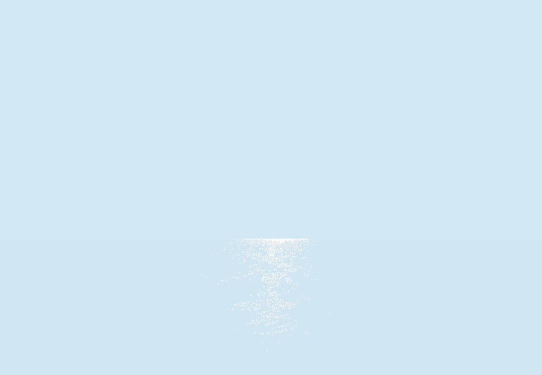 Robert Motelski Abstract Painting - Light 5 July 04:23, Modern Landscape Painting, Minimalistic, Abstract, Sea View