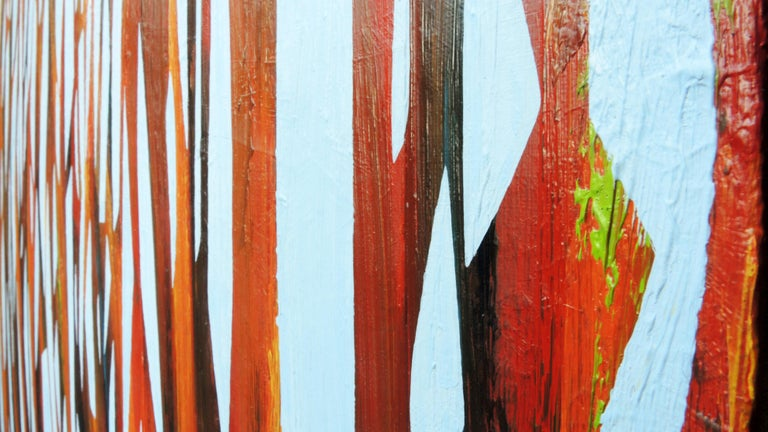 Reed 22 November 09:54 - Modern Nature Oil Painting, Abstract, Minimalism - Brown Landscape Painting by Robert Motelski