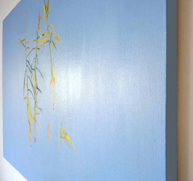 Reeds 28 September 13:42, Modern Landscape Oil Painting, Nature Lake, Minimalism For Sale 1