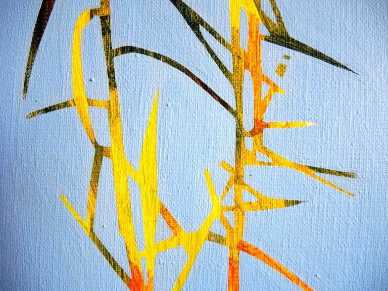 Reeds 28 September 13:42, Modern Landscape Oil Painting, Nature Lake, Minimalism For Sale 2