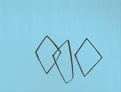 Reeds 7 March 10:49, Modern Landscape Painting, Minimalistic, Nature, Lake