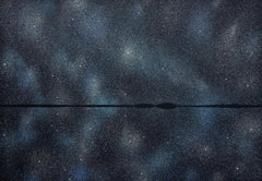 Stars 21 August 23:36, Modern Night Sky Landscape Painting, Minimalist Art