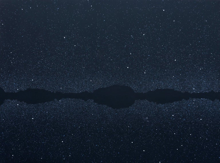 Robert Motelski Abstract Painting - Stars 3 July 22:59, Modern Night Sky Landscape Painting, Minimalistic Painting