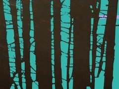 Trees 11 December 14:42, Contemporary Landscape Painting, Minimalistic, Forest
