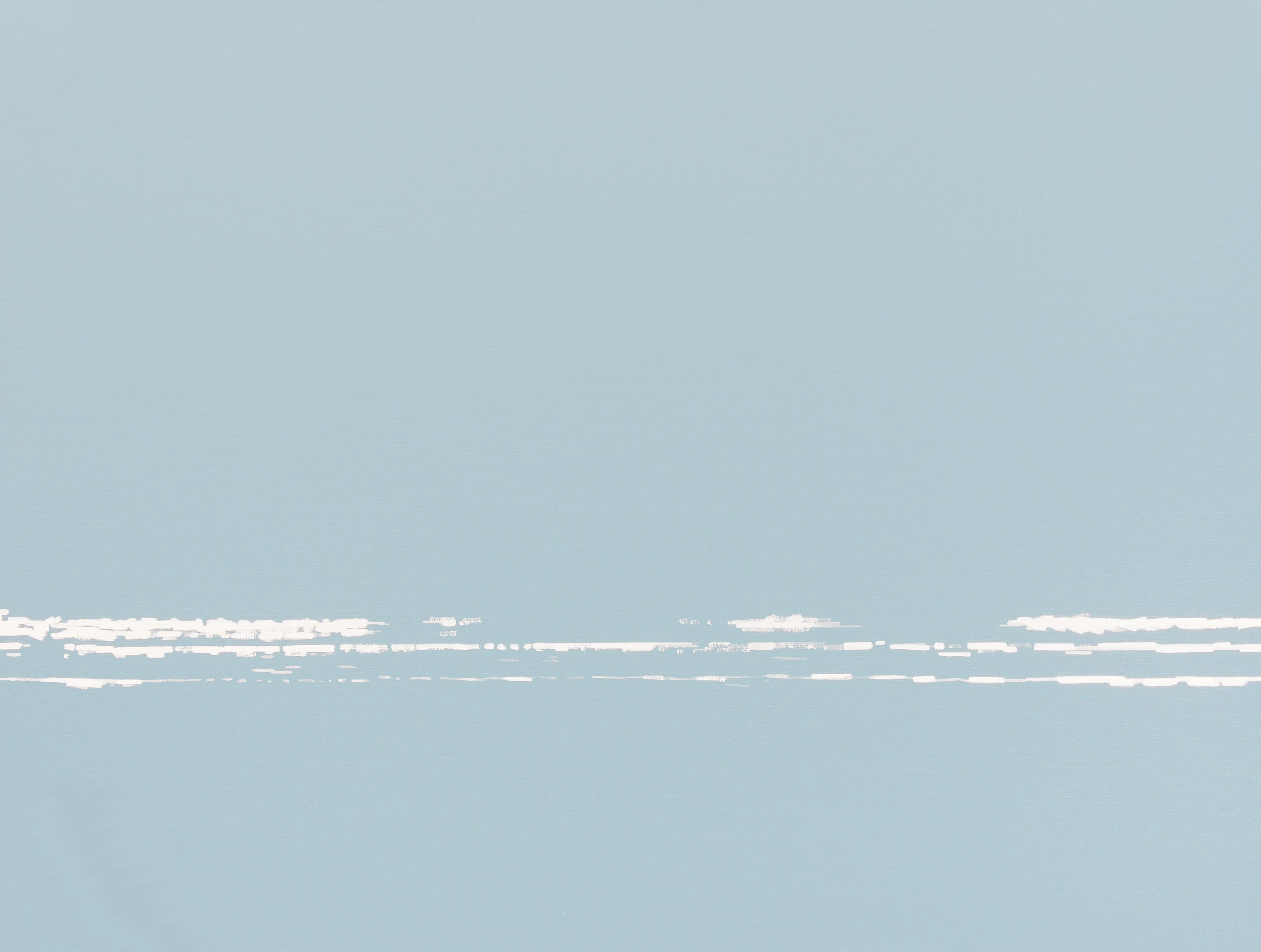 Waves 28 May 10:02, Contemporary Landscape Painting, Minimalistic, Water View