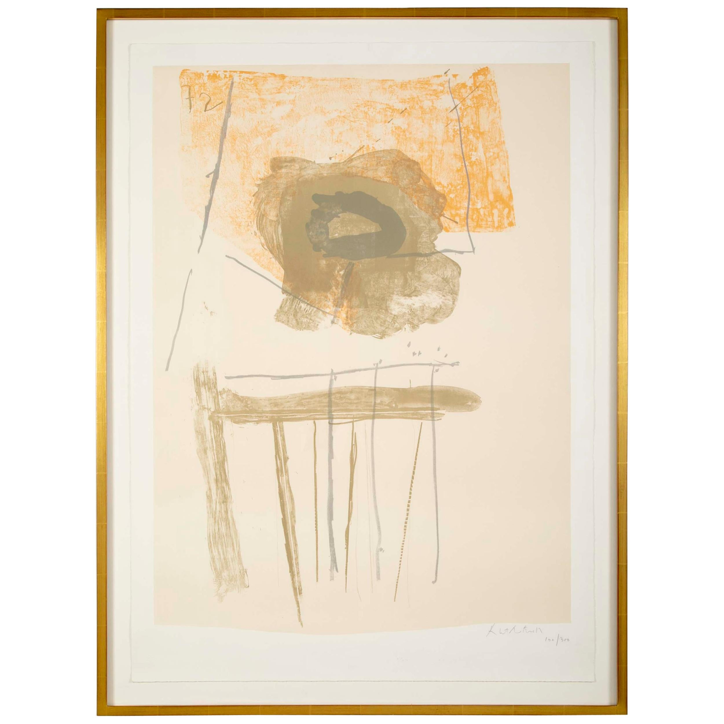 """Robert Motherwell, """"Chair""""  Lithograph in Colors"""