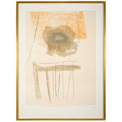 "Robert Motherwell, ""Chair""  Lithograph in Colors"